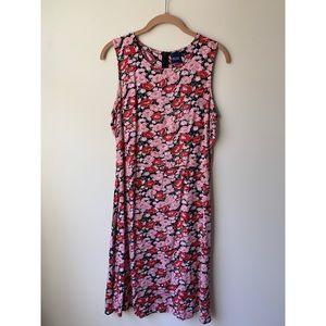 basic editions vintage 90s floral tank dress